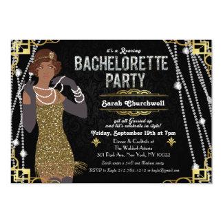 African American Flapper Bachelorette Invitation