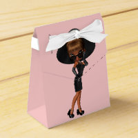 African American Fun Favorite Diva Birthday Party Favor Box