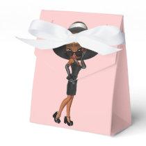 African American Fun Favorite Diva Birthday Party Favor Box