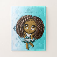 African American Girl  30 Puzzle Piece