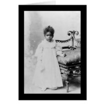 African American Girl  1900 Card