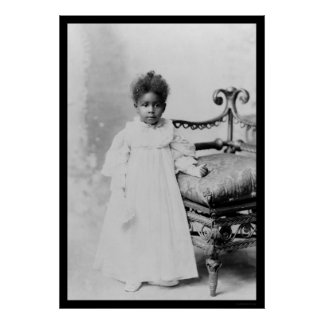 African American Girl  1900 Poster