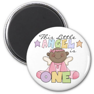 African American Girl 1st Birthday Gifts 2 Inch Round Magnet