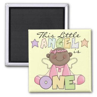 African American Girl 1st Birthday Gifts Fridge Magnet