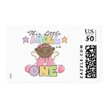 African American Girl 1st Birthday Gifts Postage
