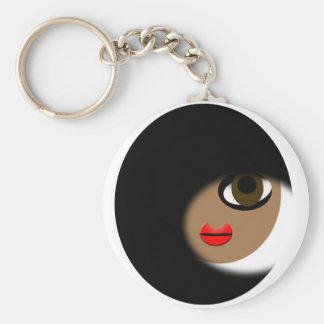 African American Girl Apparel! Basic Round Button Keychain