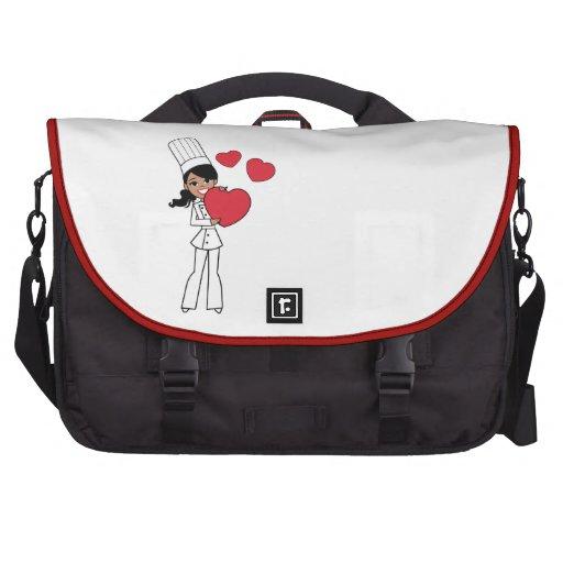 African American Girl Baker Laptop Computer Bag