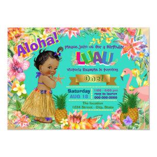 60 off african american birthday invitations shop now to save african american girl hawaiian luau birthday party invitation filmwisefo
