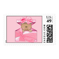 African American Girl  Postage Stamp