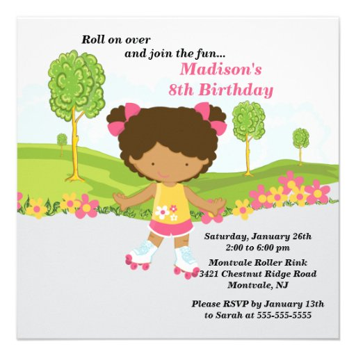 Personalized African american Invitations – African American Birthday Invitations