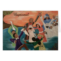 African American Greeting Card - Baptism
