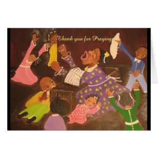 African American Greeting Card Thank you Pray