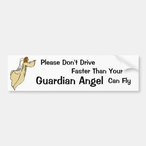 African American Guardian Angel Bumper Sticker Car Bumper Sticker