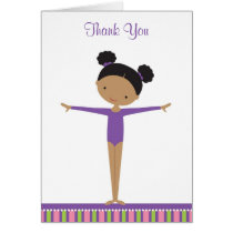 African American Gymnast Thank You Note Cards