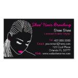 African American Hair Braider Salon Business Card Business Card Template