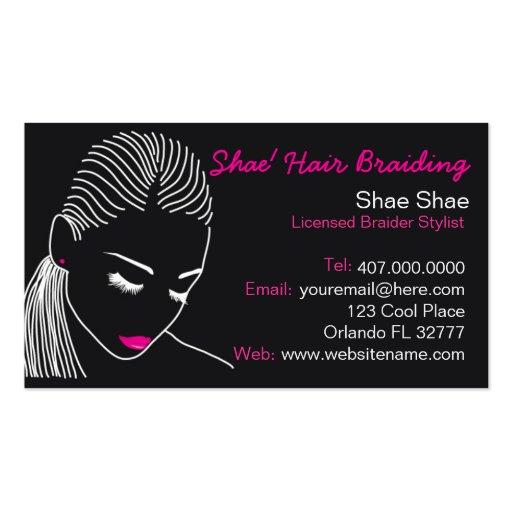 African american hair braider salon business card business for Hair braiding business cards