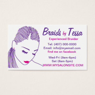 African american business cards templates zazzle african american hair braiding salon business card colourmoves Images