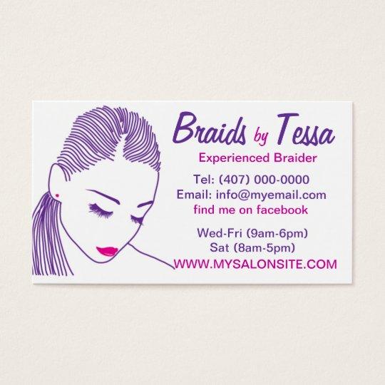 African American Hair Braiding Salon Business Card