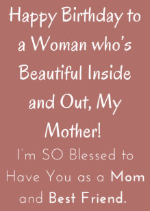 African American Happy Birthday Card For Mom