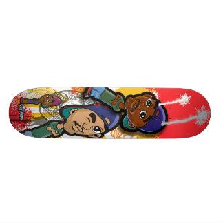 African American Hip Hop Cartoon Skateboard Deck