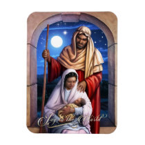 African American Holy Family Christmas Magnets