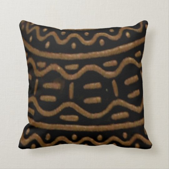 African American Home Decor Brown And Black Print Throw