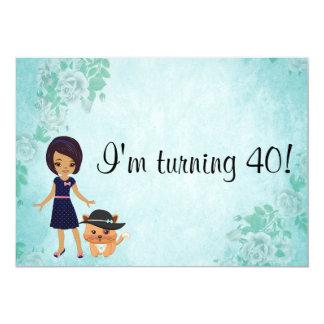 African American I'm turning 40 birthday Card