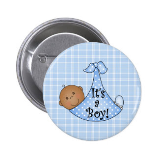 African American It's a Boy Pinback Button