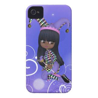 African American Jester Girl Blackberry Case