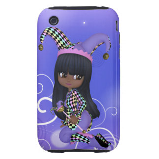 African American Jester Girl iPhone Case iPhone 3 Tough Case