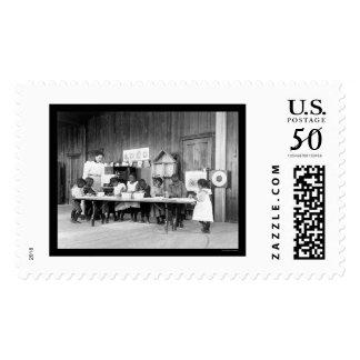 African American Kindergarten in Hampton, VA 1899 Postage