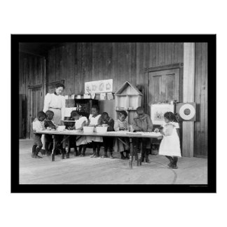 African American Kindergarten in Hampton, VA 1899 Posters