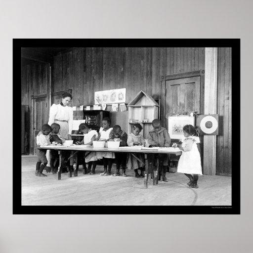 African American Kindergarten in Hampton, VA 1899 Poster