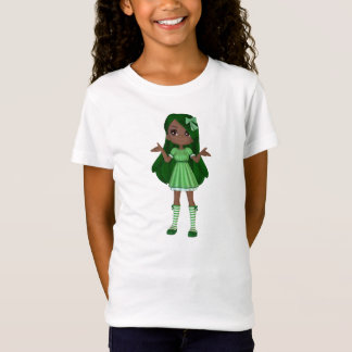African American Lady Lime Baby Doll T-Shirt