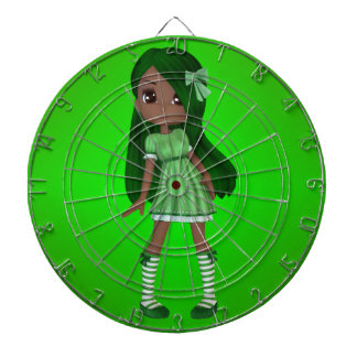 African American Lady Lime Dart Board