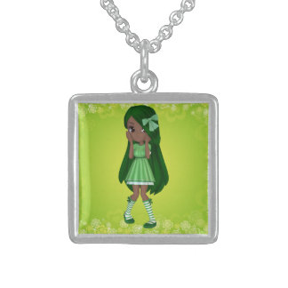 African American Lady Lime Necklace