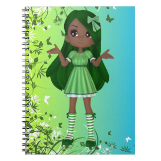 African American Lady Lime Notebook