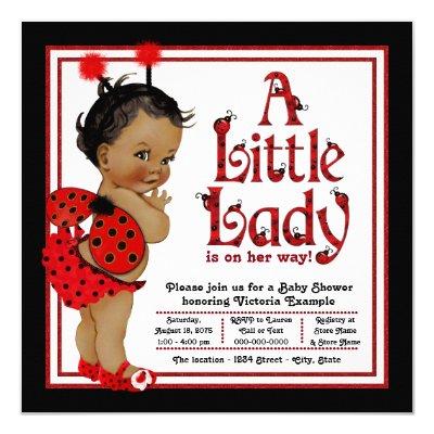 Ladybug baby shower invitations zazzle filmwisefo Image collections