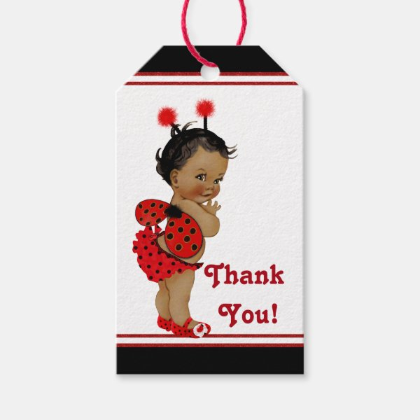 African american ladybug baby shower gift tags custom products african american ladybug baby shower gift tags negle Images