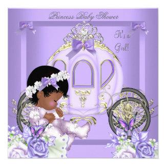 African American Lavender Baby Shower Girl 5 Invites