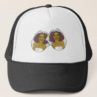 African-American Lesbian Wedding Trucker Hat