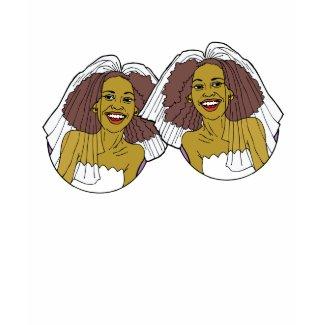 African-American Lesbian Wedding shirt