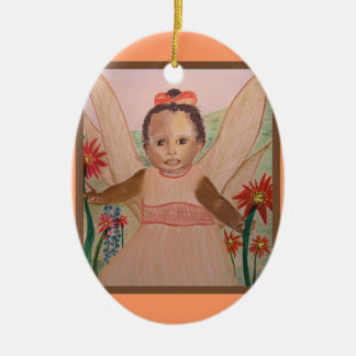 African American Little Angel Ornament