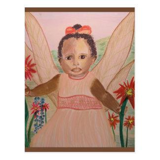African American Little Angel Postcard