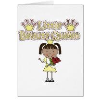 African American Little Beauty Queen Card
