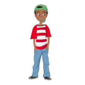 African American little cute cartoon boy Achai Pho Acrylic Cut Out