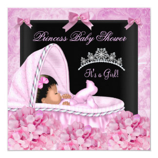 African American Little Princess Baby Shower Girl Card