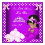 African American Little Princess Baby Shower Girl Custom Invite