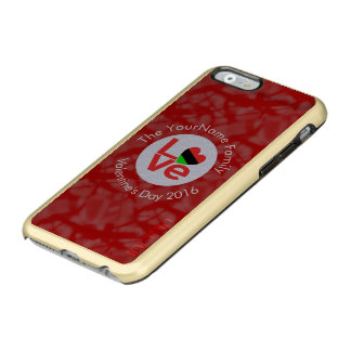 African American LOVE Flags White on Red Incipio Feather Shine iPhone 6 Case