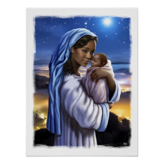 African American Madonna and Child Art Print